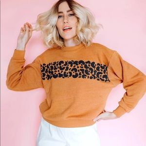 Anthropologie x DAZEY LA leopard pullover